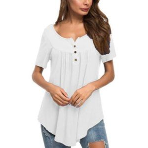 Women's Melissa Tunic Top White S (4-6)